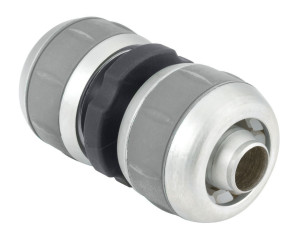 Gilmour Medium Duty Compression Repair 5/8in, 3/4 Metal Hose Mender Grey 10ea/4.9 In X 2.9 In X 1.6 in