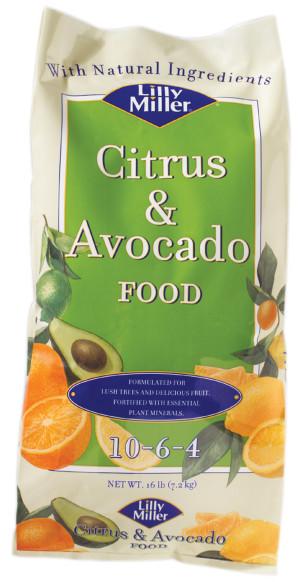 Lilly Miller Citrus & Avocado Food 10-6-4 1ea/16 lb