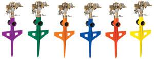 Dramm ColorStorm™ Stake Impulse Sprinkler Assorted Colors 6ea/6 in