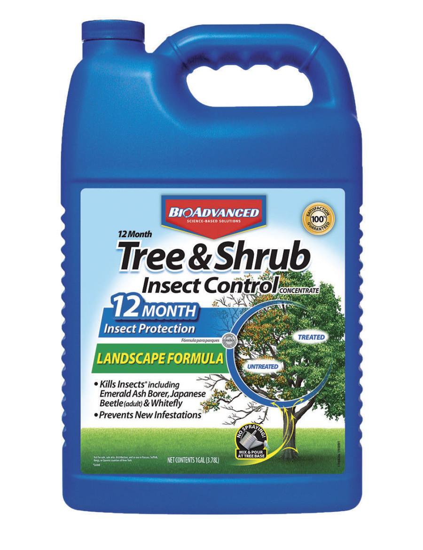 BioAdvanced 12 Month Tree & Shrub Insect Control Concentrate 4ea/128 fl oz