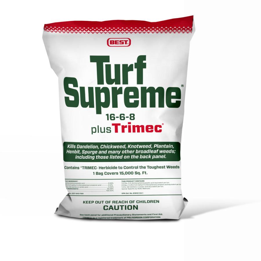 Best Turf Supreme 16-6-8 Fertilizer plus Trimec 1ea/50 lb