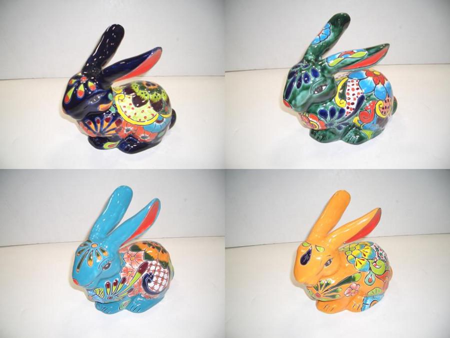 Talavera Jack Rabbit Assortment Assorted 4ea/Medium