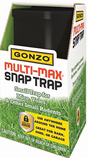 Gonzo Multi-Max Snap Trap Small for Mice & Voles Black 1ea/Single pk