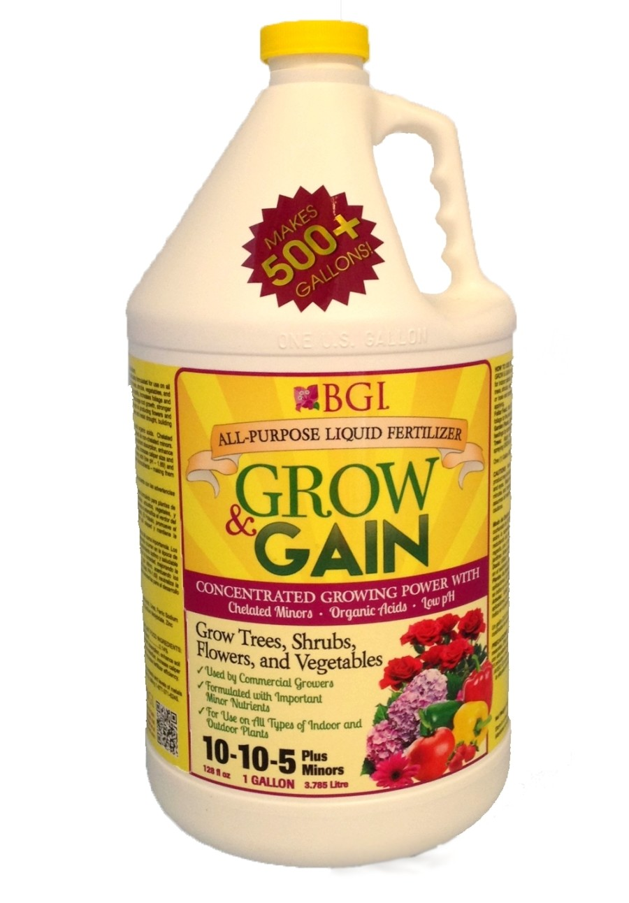 BGI Grow & Gain All-Purpose Liquid Fertilizer Concentrated 6ea/10-10-5 1 gal