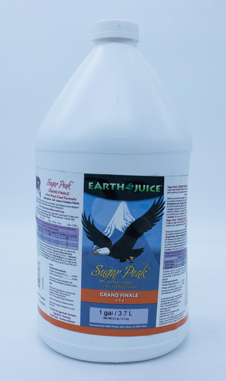 Earth Juice Sugar Peak Grand Finale 0-6-4 Plant Food 4ea/1 gal