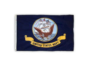Flag Zone Nylon Flag with Heading and Grommets Navy 4ea/2Ftx3 ft