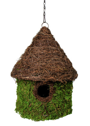 Supermoss Bungalow Woven Birdhouse Fresh Green 6ea/11Inx15 in