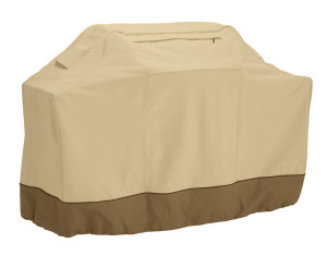 Classic Accessories Veranda Cart BBQ Grill Cover Pebble 2ea/XX Large