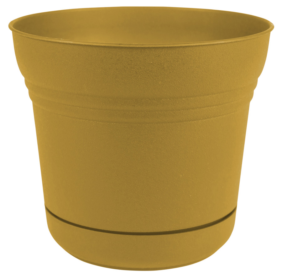 Bloem Saturn Planter Earthy Yellow 12ea/7 in