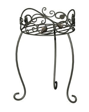 Panacea Plant Stand Scroll & Ivy Black 6ea/16.5 in