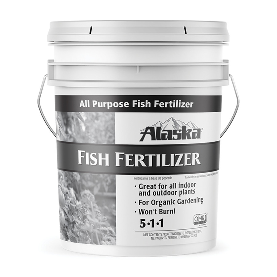 Alaska Fish Emulsion Fertilizer All Purpose 5-1-1 1ea/5 gal