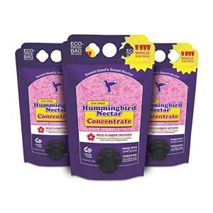 Sweet Seed Hummingbird Nectar Concentrate Eco-Fresh Bag Dye-Free 9ea/1.5 l
