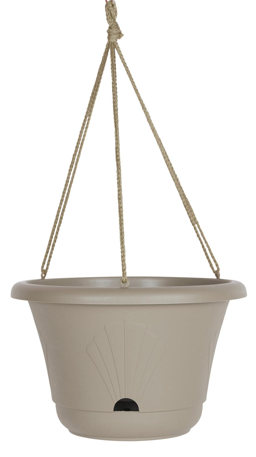 Bloem Lucca Hanging Basket Planter Pebble Stone 10ea/13 in