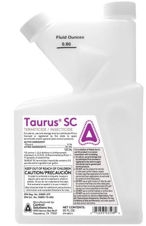 Control Solutions Taurus Termite Killer & Insecticide Concentrate 4ea/20 oz