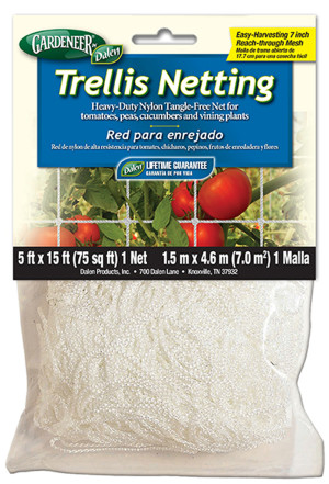Dalen Gardeneer Trellis Netting White Clip Strip 12ea/5Ftx15 ft
