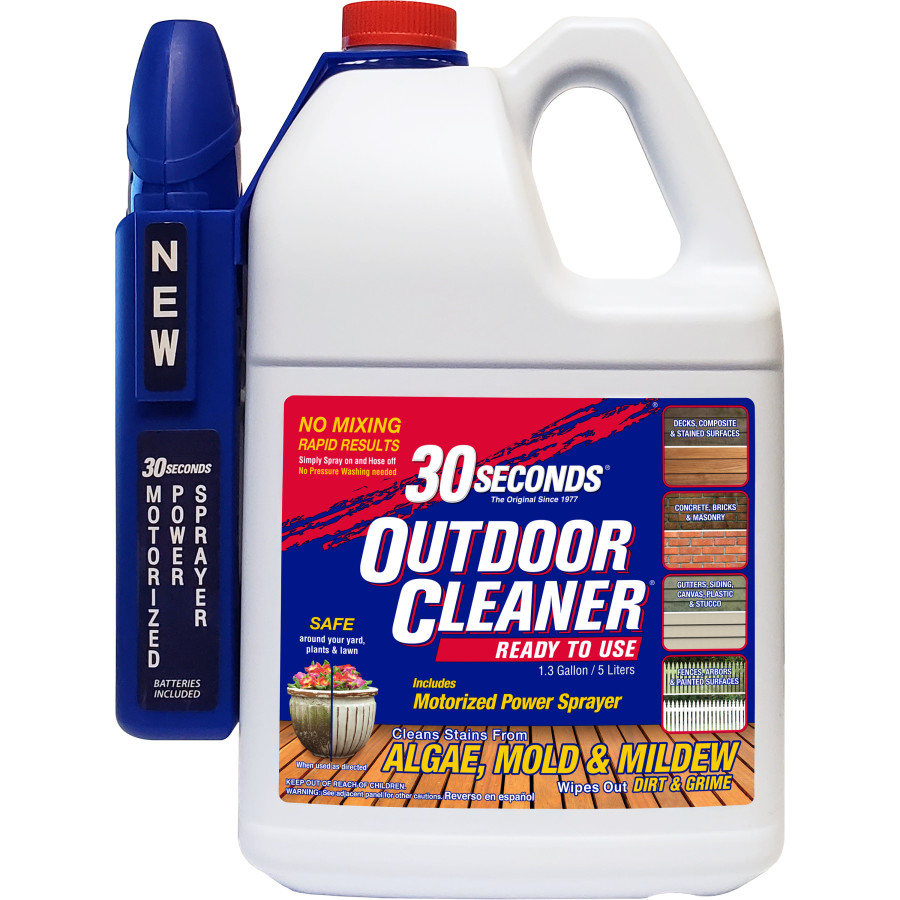 30 Seconds Outdoor Cleaner Algae Mold & Mildew Ready to Use Power Sprayer 4ea/1.3 gal