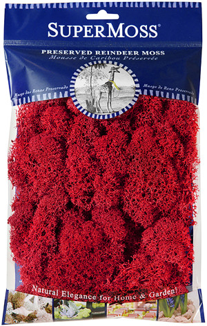Supermoss Reindeer Moss Preserved Moss Red 10ea/4 oz