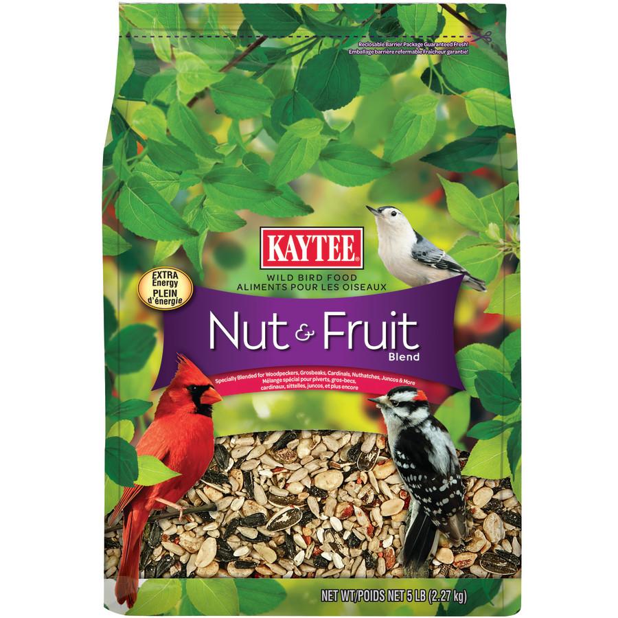 Kaytee Nut & Fruit Blend Food Stand-up Bag 3ea/5 lb