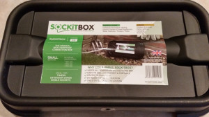 SOCKiTBOX Weatherproof Powercord Connection Box Black 20ea/Small