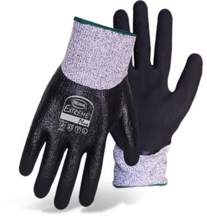 Boss Extreme Smooth Nitrile Dip Palm Glove Black, White 12ea/Medium