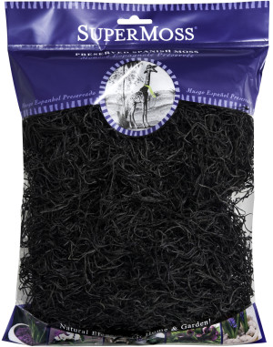 Supermoss Spanish Moss Preserved Black 10ea/4 oz