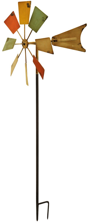 Alpine Multi Color Metal Windmill Garden Stake Multi-Color 4ea