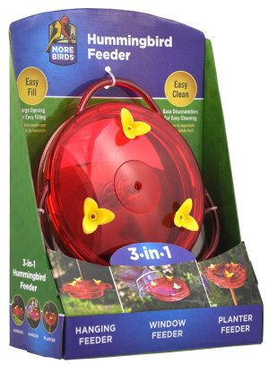 Classic Brands More Birds® 3 in 1 Hummingbird Feeder Red 4ea/6 oz