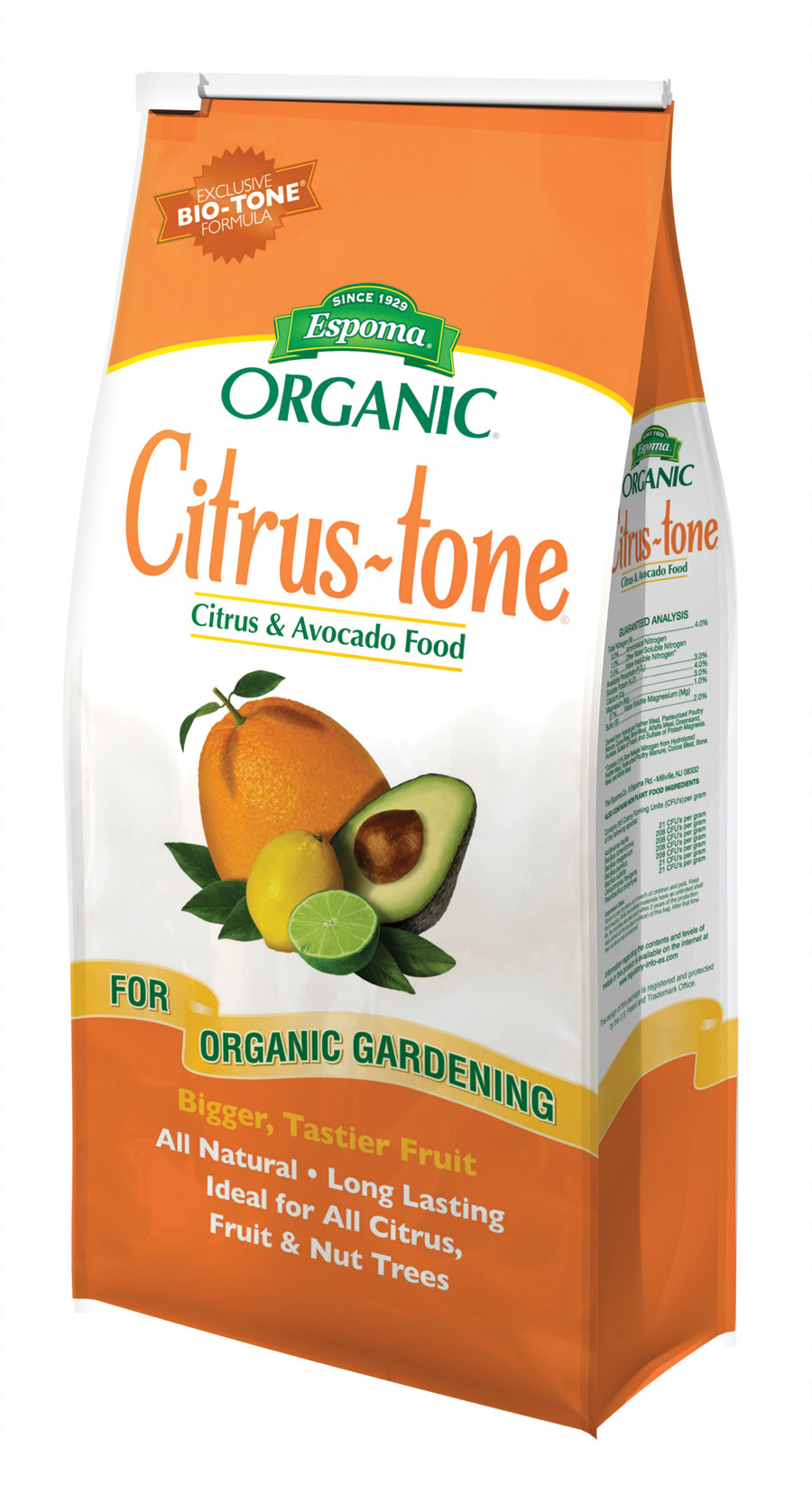 Espoma Organic® Citrus-tone Citrus & Avocado Food 5-2-6