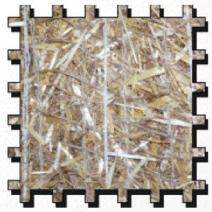 Erosion Tech ETSC-70/30 Erosion Control Blanket Straw-Coco Biodegradable Black 1ea/8Ftx112.5 ft