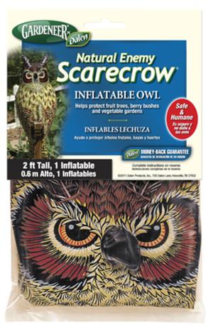 Dalen Gardeneer Natural Enemy Scarecrow Inflatable Owl Brown 12ea/2 ft