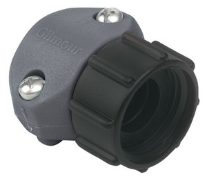 Gilmour Light Duty Clamp Repair Poly End Hose Coupling Female Grey 12ea/5/8In, 3/4 in