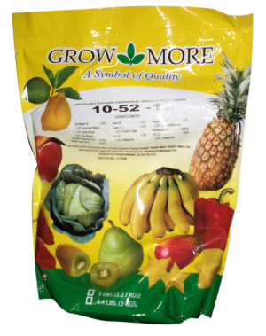Grow More High Bloom Soluble Fertilizer Concentrate 10-52-10 10ea/5 lb