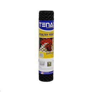 Tenax Poultry Fence Black 9ea/2Ftx25 ft