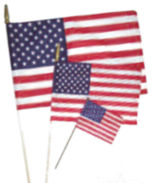 Flag Zone American Hand Flag Economy (No Sew) 12ea/8Inx12 in