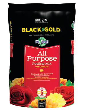 Black Gold All Purpose Potting Soil 5ea/0.13-0.04-0.13 1.5Cuft