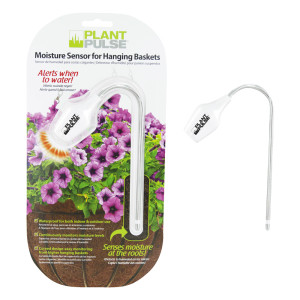 Plastair Plant Pulse Moisture LED Sensor for Hanging Baskets White 6ea