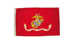 Flag Zone Nylon Marines Flag 4ea/2Ftx3 ft