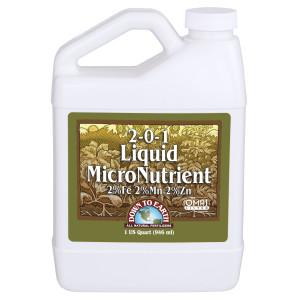 Down To Earth Liquid MicroNutrient 2-0-1 OMRI 10ea