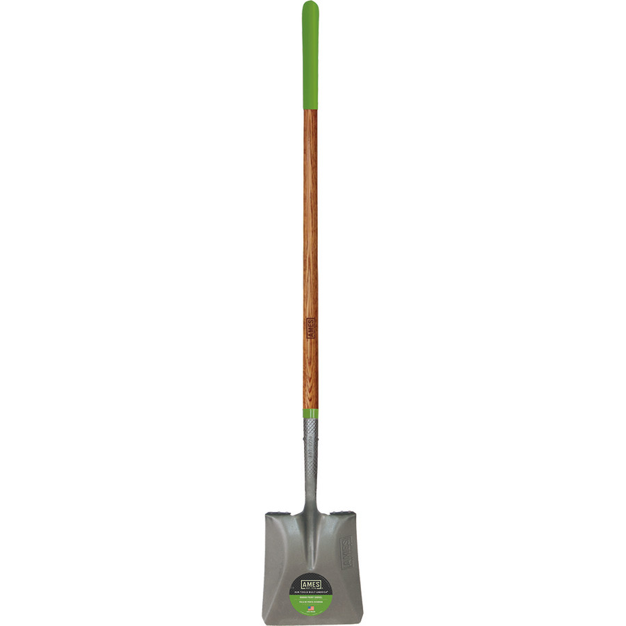 Ames Long Handle Point Shovel Handle Square with Ash Handle Brown 2ea