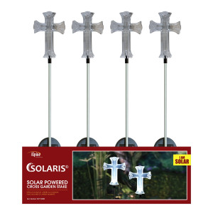 Alpine Solar Cross Garden Stake 20ea