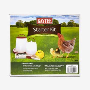 Kaytee Chicken Starter Kit for Chicks & Hens Feeder, Toy, Scoop, Waterer 6ea