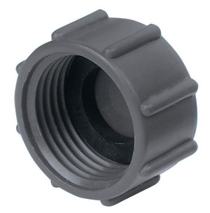 Gilmour Hose Cap Poly Black 12ea/2 pk