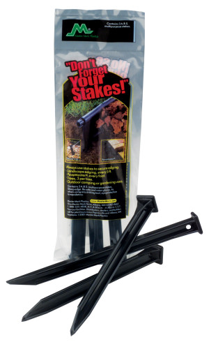 Master Mark A.B.S. Multipurpose Stakes Anchor Kit Black 36ea/3Pk 10 in