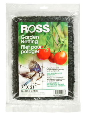 Ross Tree Netting & Bird Plant Protection Black 12ea/7Ftx21 ft