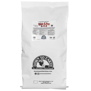 Down To Earth Bio-Live Natural Fertilizer 5-4-2 with Myco OMRI 1ea/50Lb (Oklahoma Only)