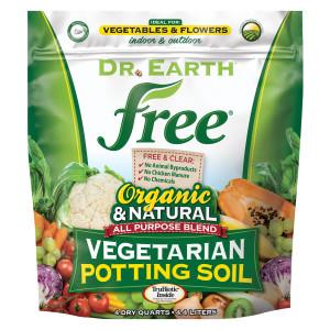 Dr. Earth Free All Purpose Potting Soil 4ea/8 qt