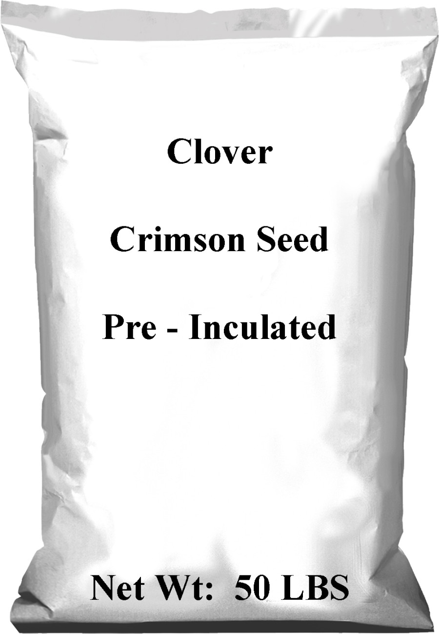 Pennington Crimson Clover Seed Pre-Inoculated 50% CT 40ea/50 lb
