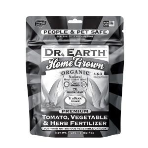 Dr. Earth Home Grown Premium Tomato, Vegetable & Herb Fertilizer 4-6-3 Black Poly Bag 12ea/1 lb