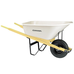 Corona Poly Wheelbarrow 60in Hardwood Handles White 1ea/6Cuft