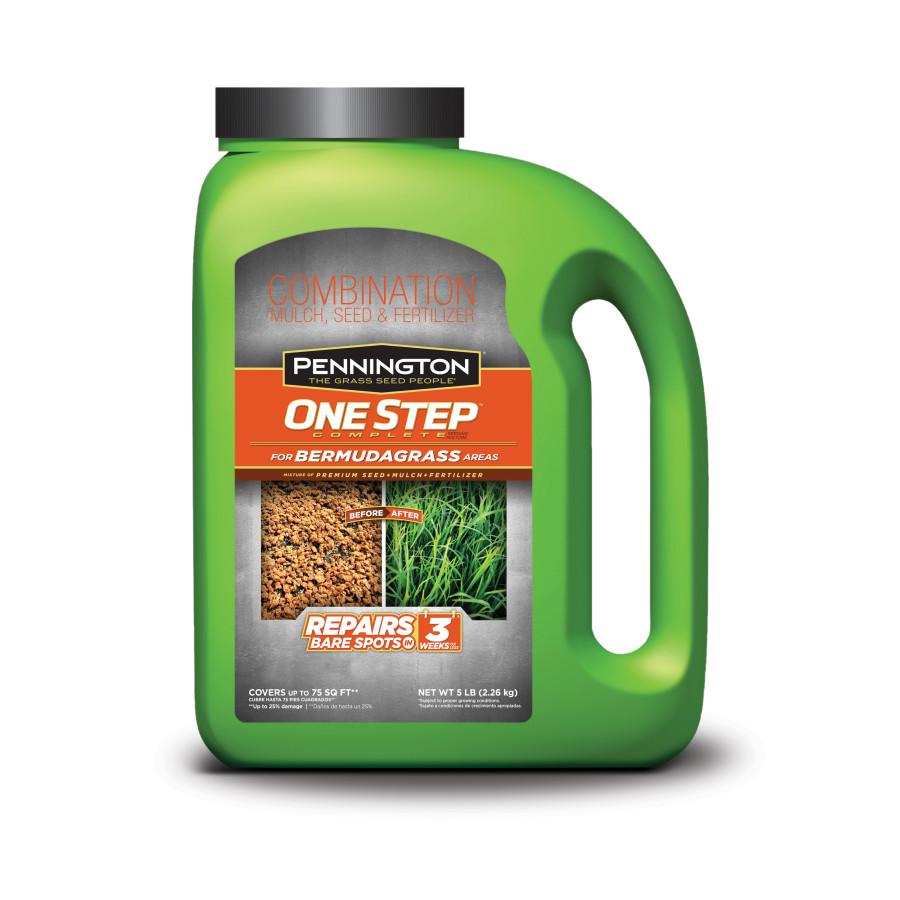 Pennington One Step Complete Bermudagrass Seed, Mulch, Fertilizer Jug 4ea/5 lb